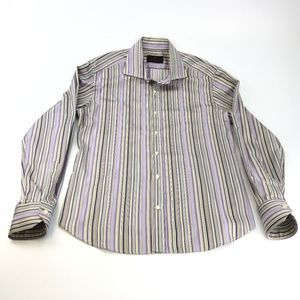 Etro Milano Italy striped dress shirt size 40